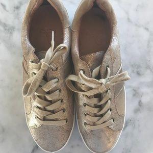New Joie metallic sneakers!